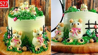 cake for child decorate amazing - bánh cho trẻ em trang trí gấu mini đẹp (527)