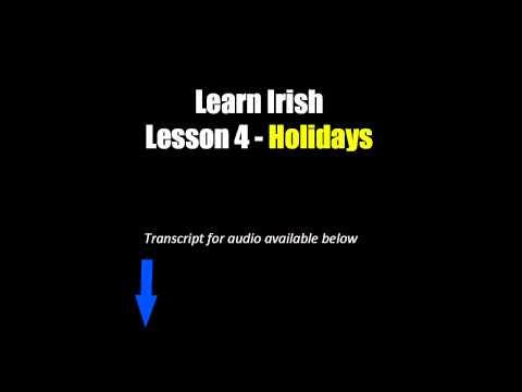 Learn Irish - Lesson 4 (Holidays)