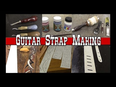 Guitar Strap Making Part 1 How to make Custom Leather Guitar Straps Leathercraft Tutorial