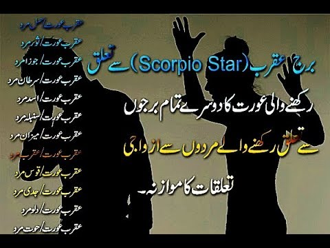 Scorpio Star (عقرب عورت) Marriage And Love Compatibility With Men Related From Others Stars Urdu