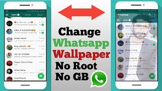 Change Whatsapp Background WithOut Root Amazing !! Techncial Fauji