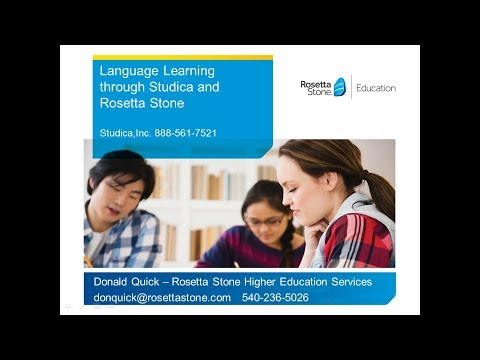 Language Learning Solutions for Higher Education Webinar