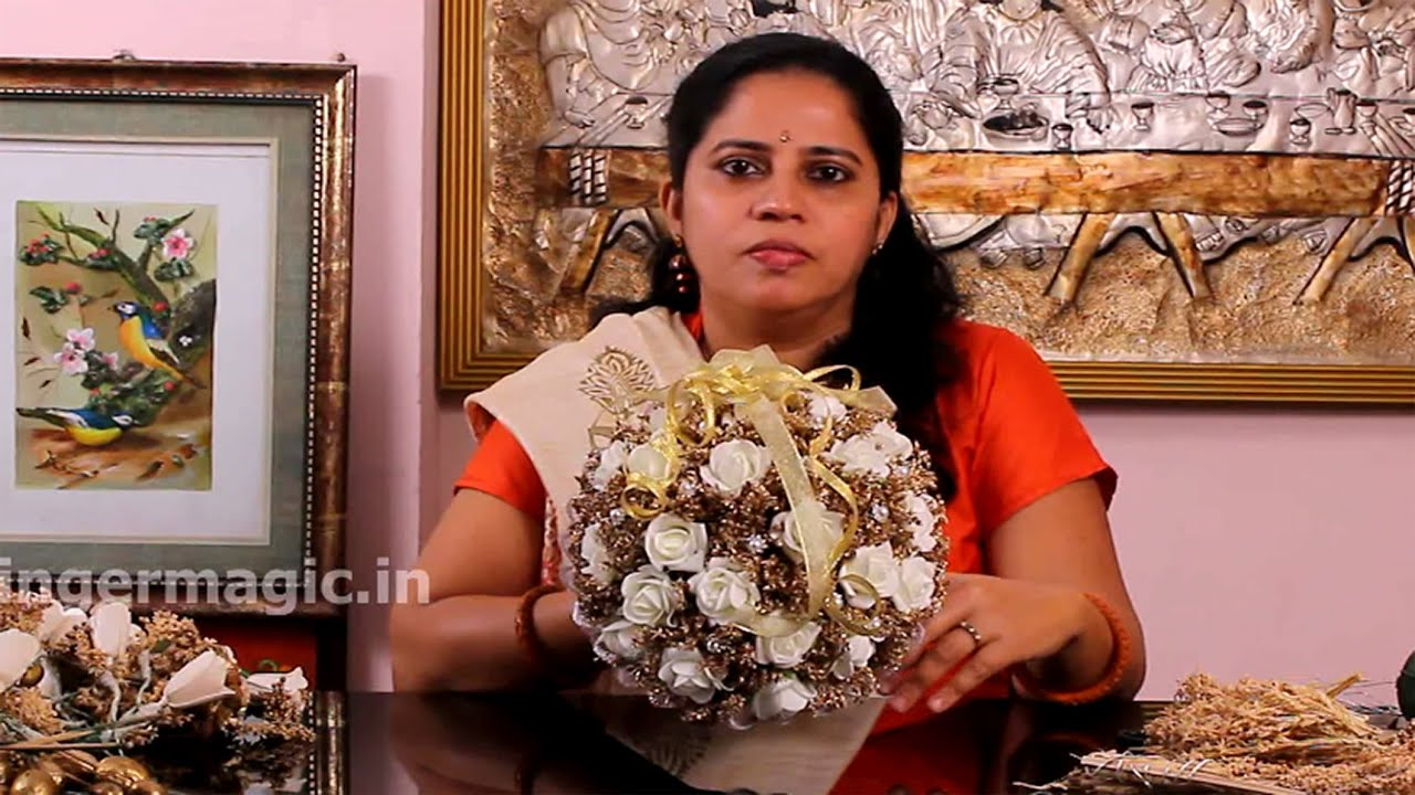How to make a Dry Flower Bridal Bouquet - YouTube