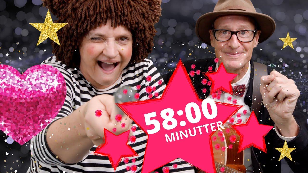 58 MINUTTER JULESPECIAL 2020 | Julekalender og børnesange med fagter | Popsi og Krelle
