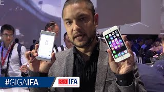 Xperia Z5 Compact vs. iPhone 6 - Hands-On - GIGA.DE