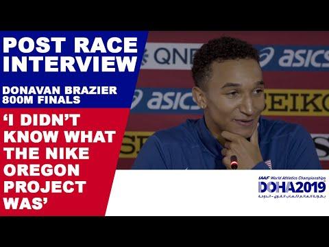 DONAVAN BRAZIER BREAKS USA AND WORLD CHAMPS RECORDS (800M) | World Athletics Championships Doha 2019