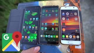 Test Samsung Galaxy S9+ / S9 plus (vs LG G6 & S7)  - 4/6 - GPS (vitesse et nombre de satellites)
