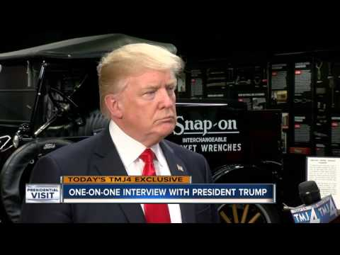 One-on-one interview with President Donald Trump