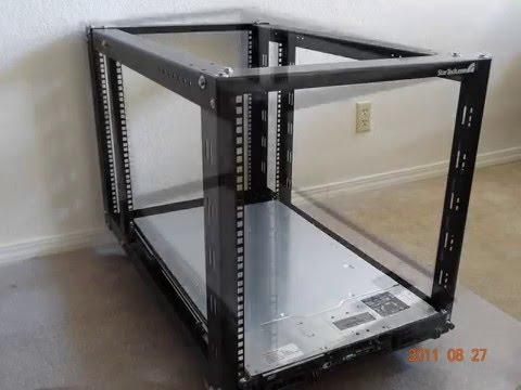 startech 19 inch 12u open server rack frame - YouTube