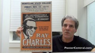 Ray Charles Concert Window Cards 1963 – Six Different Examples