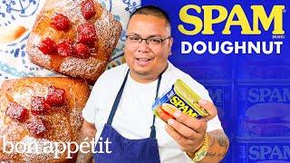 Transforming Spam Into A Doughnut   Dish It Out   Bon Appétit