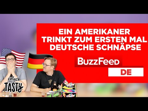 Ein Amerikaner trinkt zum ersten Mal deutsche Schnäpse
