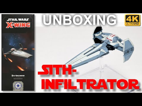 Star Wars X-Wing 2. Edition: Sith-Infiltrator - WAVE 3 - Unboxing - Sith Infiltrator (4K)