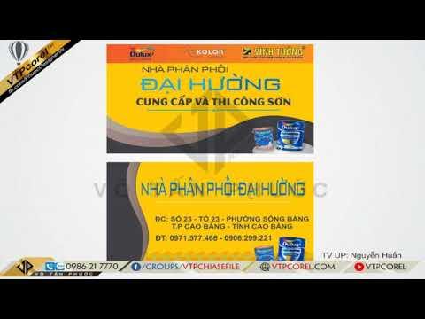 Share mẫu Name Card visit Sơn DULUX Nhà phân phối sơn CDR12 | VTPcorel |