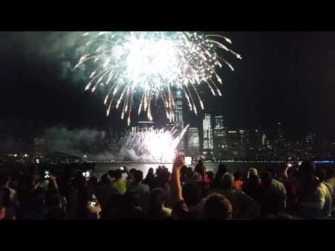 New Jersey City Exchange Place Fireworks 2017