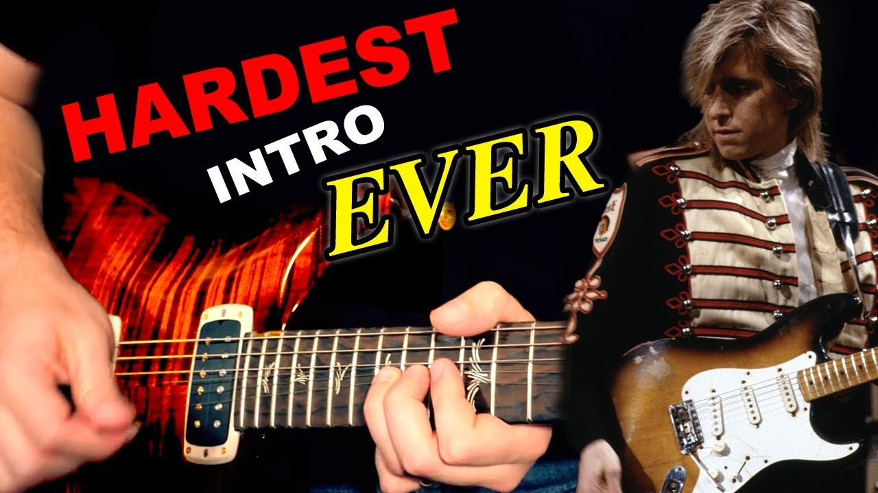 learning the hardest guitar intro ever - youtube