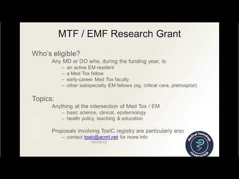 MTF Grant Webinar - Medical Toxicology Foundation