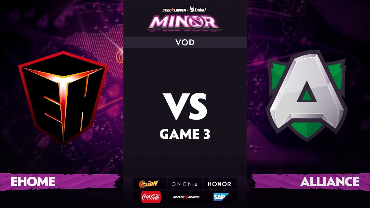 [RU] EHOME vs Alliance, Game 3, StarLadder ImbaTV Dota 2 Minor S2 Group Stage