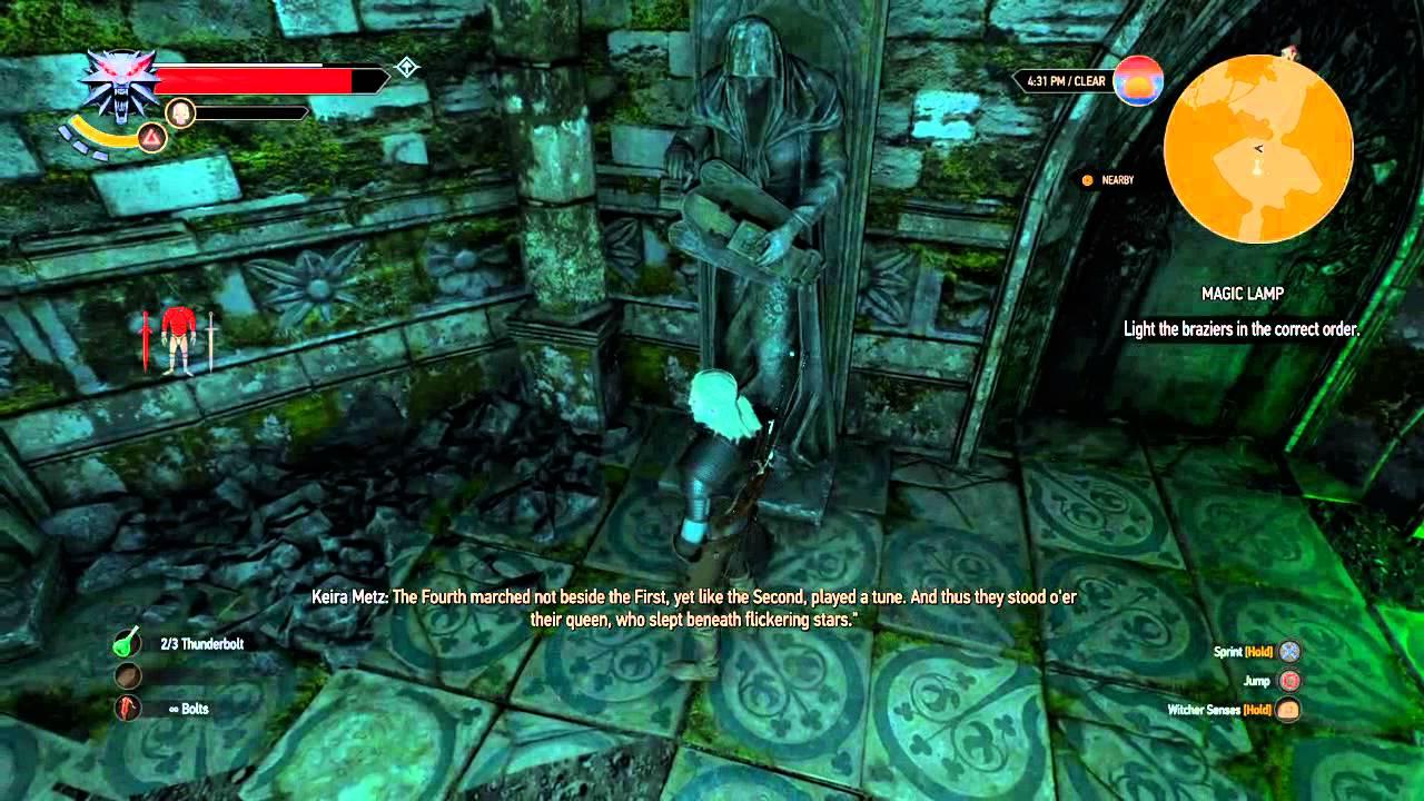 The Witcher 3: Wild Hunt Wandering in the dark quest Door riddle ...