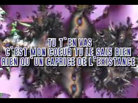 Alain Barriere  Tu T'en Vas  video voce karaoke
