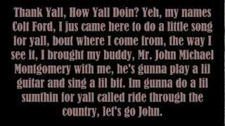 Colt Ford - ride through the country (Lyrics)