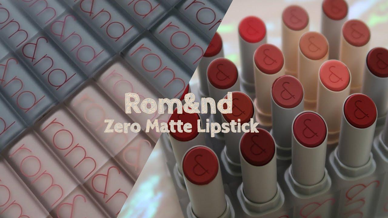 [SWATCH & REVIEW FULL 20 MÀU] ROMAND ZERO MATTE LIPSTICK | Yeah I'm Lio