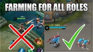 HOW TO FARM, GET GOLD AND BECOME FED FAST in Mobile Legends