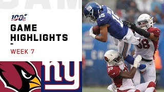 Cardinals vs. Giants Week 7 Highlights | NFL 2019