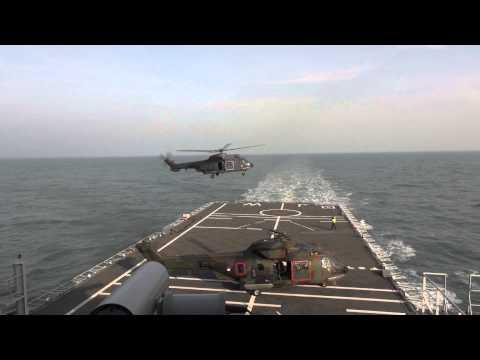 Dual Spot Helikopter Operaties aan boord Hr.Ms. Johan de Witt