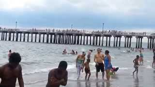 Coney Island Beach on a cloudy Summer 2014 afternoon