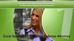 Coral Springs FL Criminal Defense Attorney