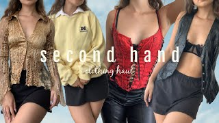 SECOND HAND CLOTHING HAUL ✩ (depop, online small businesses, + goodwill)