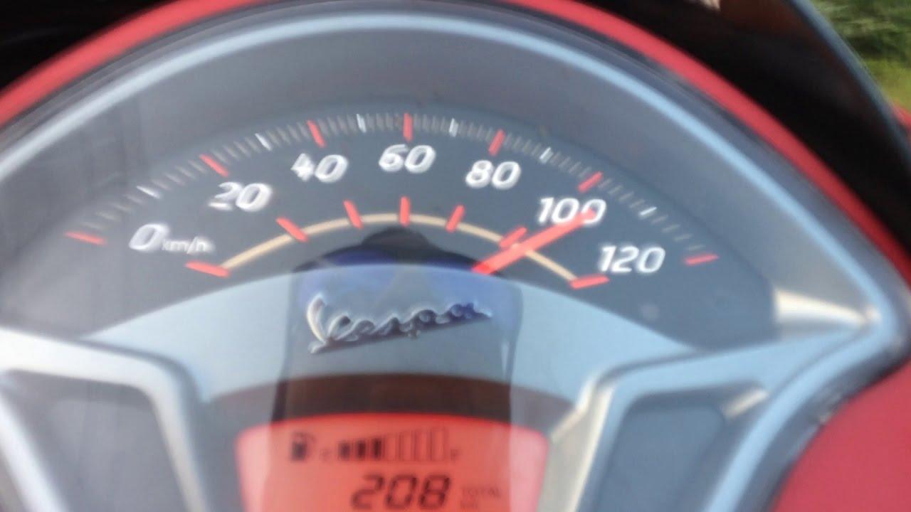 vespa 125 max speed