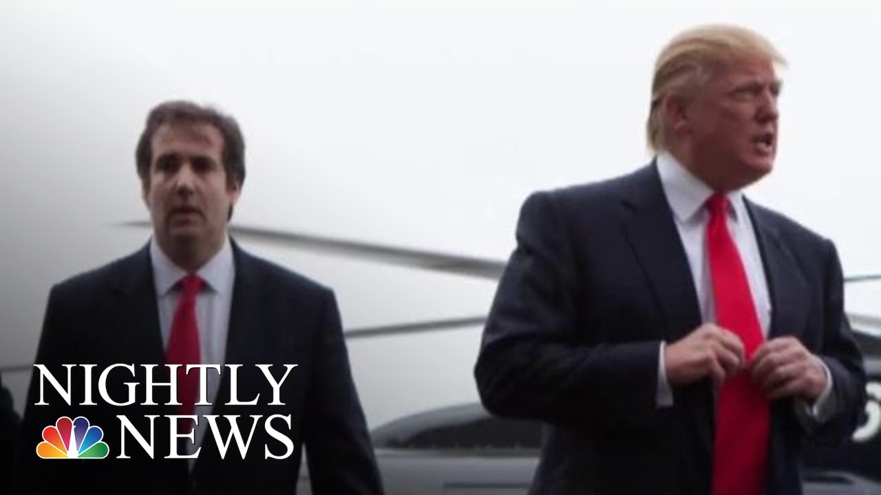 President Donald Trump Denies He Ordered Micheal Cohen To Break The Law