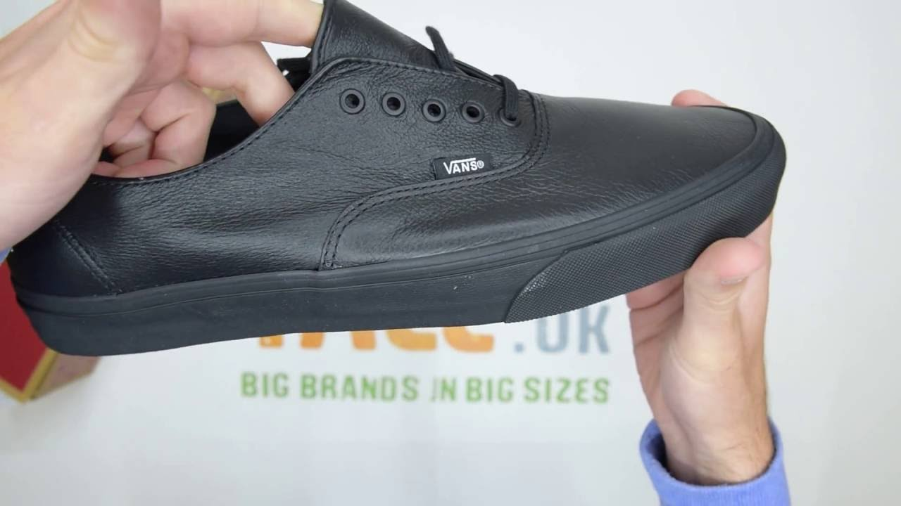 b3a137a96f5 Vans Authentic Decon Leather - Black   Black - Walktall