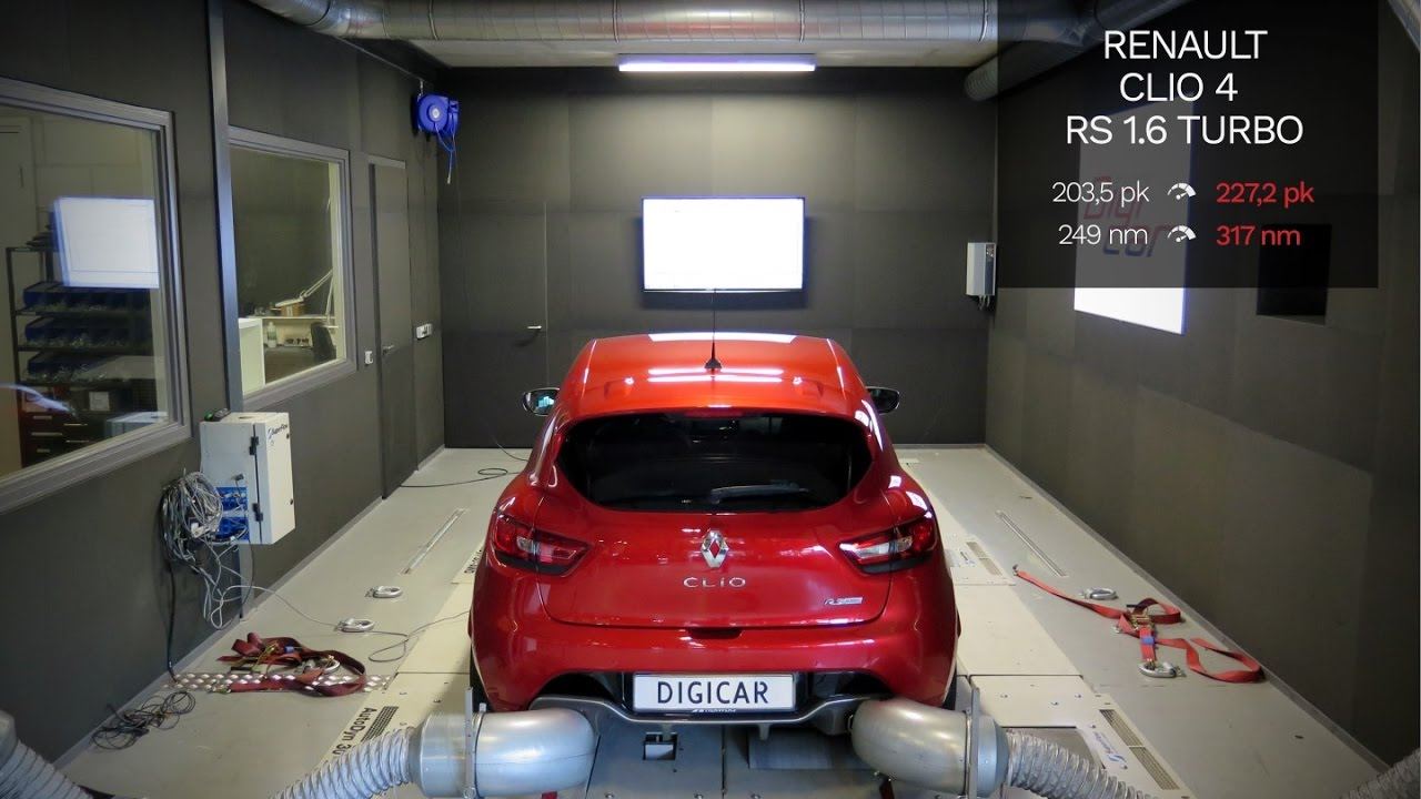 renault clio rs 1 6t 200pk stage 1 tuning dyno digicar. Black Bedroom Furniture Sets. Home Design Ideas