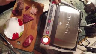 идеальный стейк дома с tefal optigrill