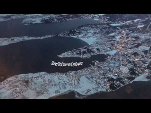 Landing in St. John's, Newfoundland, 25th January 2017 With Labels