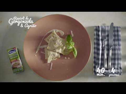 Mimosa Chef em Familia – Ravioli de Gorgonzola e Agrião
