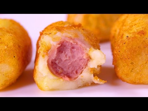 TASTY POTATO HOT DOGS | Easy food recipes videos for dinner to make at home
