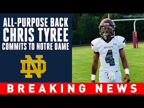 Four-star running back Chris Tyree latest commit in Notre Dame's 2020 class  247Sports