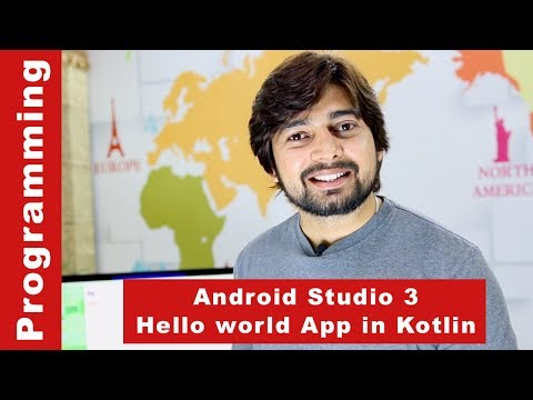 Android Studio 3 - Create Hello World App In Kotlin