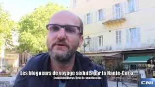 Les blogueurs de voyage se?duits par la Haute Corse