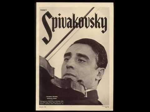 Tossy Spivakovsky -Carmen Fantasy/Sarasate