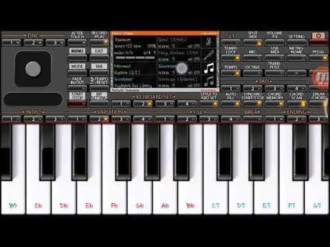 Saat Samundar Paar Instrumental on Mobile Piano ORG2018