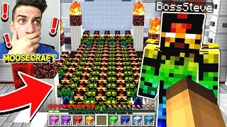 vuclip BOSS STEVE SHOWED US HIS SECRET STEVE ARMY IN MINECRAFT!