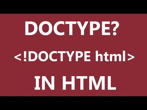 What Is DOCTYPE In HTML?