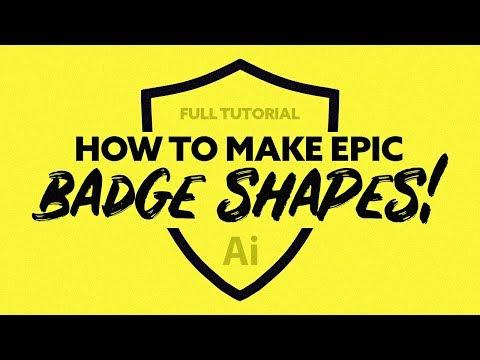 Make Epic Badge Shapes Effortlessly - Adobe Illustrator Tutorial 2018