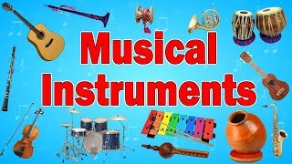 Music Instruments Names | Musical instruments names and information | Kid2teentv