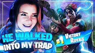 HE WALKED RIGHT INTO MY TRAP! Squads w/ Chica, iCarlee & Nox (Fortnite: Battle Royale)